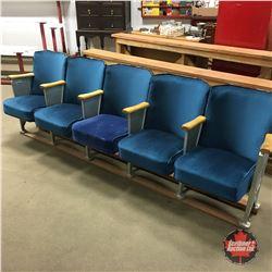 """Row of Theatre Seats (5) 98"""""""