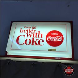 """Things Go Better with Coke"" Light up Sign"
