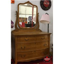 Bird's Eye Maple Mirrored Dresser