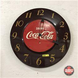 """Drink Coca-Cola"" Elec. Round Clock 18"" Dia"