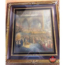 """The Coronation of Queen Victoria"" Framed Picture 27"" x 30"""