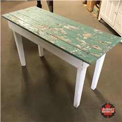 Rustic Painted Deck Table