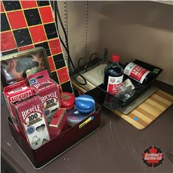 Game & Office Grouping for Work & Play ! (Checkers, Poker Chips, Yo-Yo's, Ink, Receipt Book, Clipboa