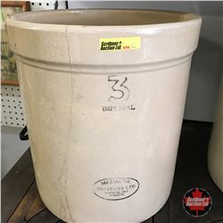 3 Gal Medalta Crock (Cracked)