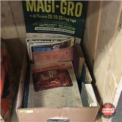 Box Lot: Ephemera (Incl: Farm Workshop Guide Magi - Gro Sample, etc)