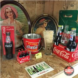 Coca-Cola Collection (Incl: Trays, Bottles, Stapler + Bonus 7-Up Carrier)