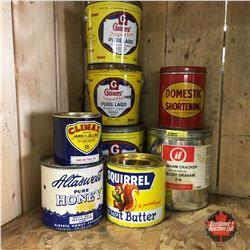Pantry Tin Collection (Lard, Honey, Peanut Butter, Jam, etc)