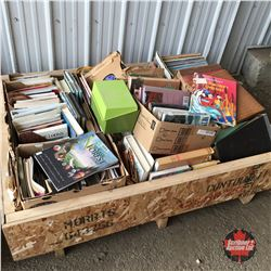Crate Lot: Books & Records (Large Variety)