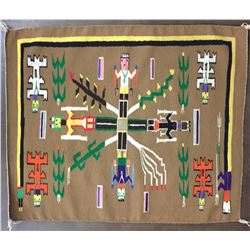 Navajo Sand Painting Textile
