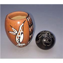Pair of Fine Mini Pots - Pueblo
