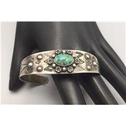 Fred Harvey Era Bracelet With Turquoise