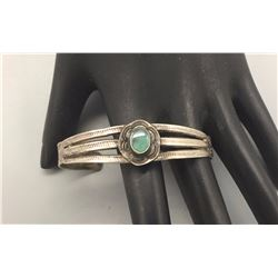 Fred Harvey Era, Turquoise and Sterling Silver Bracelet