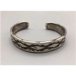 Navajo Made Sterling Silver Bracelet