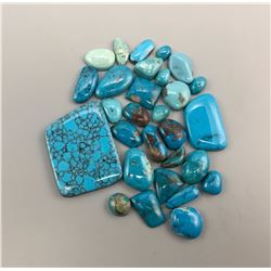 Mixed Lot of Turquoise Cabochons