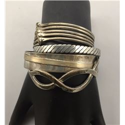 Group of Four Sterling Silver Bracelets