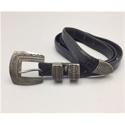 4 Piece Belt Buckle Set and Belt