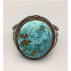 Large Webbed Turquoise Stone Bracelet