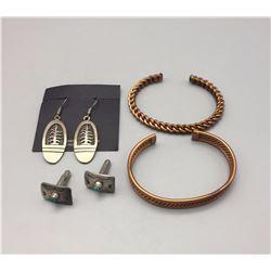 2 Bracelets, Earrings and Cuff Links