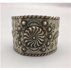 Vintage Repousse' Cuff Bracelet