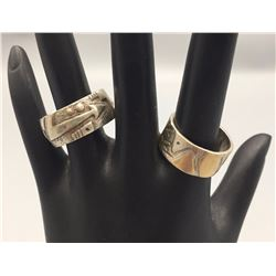 Pair of Wide Band Rings