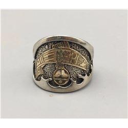 Kewa Made Gold and Silver Ring, Tenorio