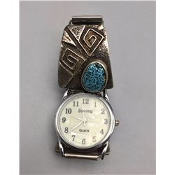 Webbed Turquoise Watch Bracelet