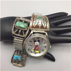 Pair of 1970s Watch Bracelets