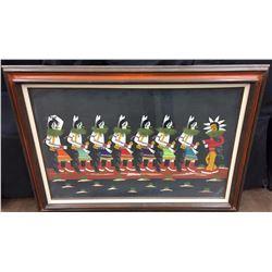 Framed Yei-Be-Chei Folk Art