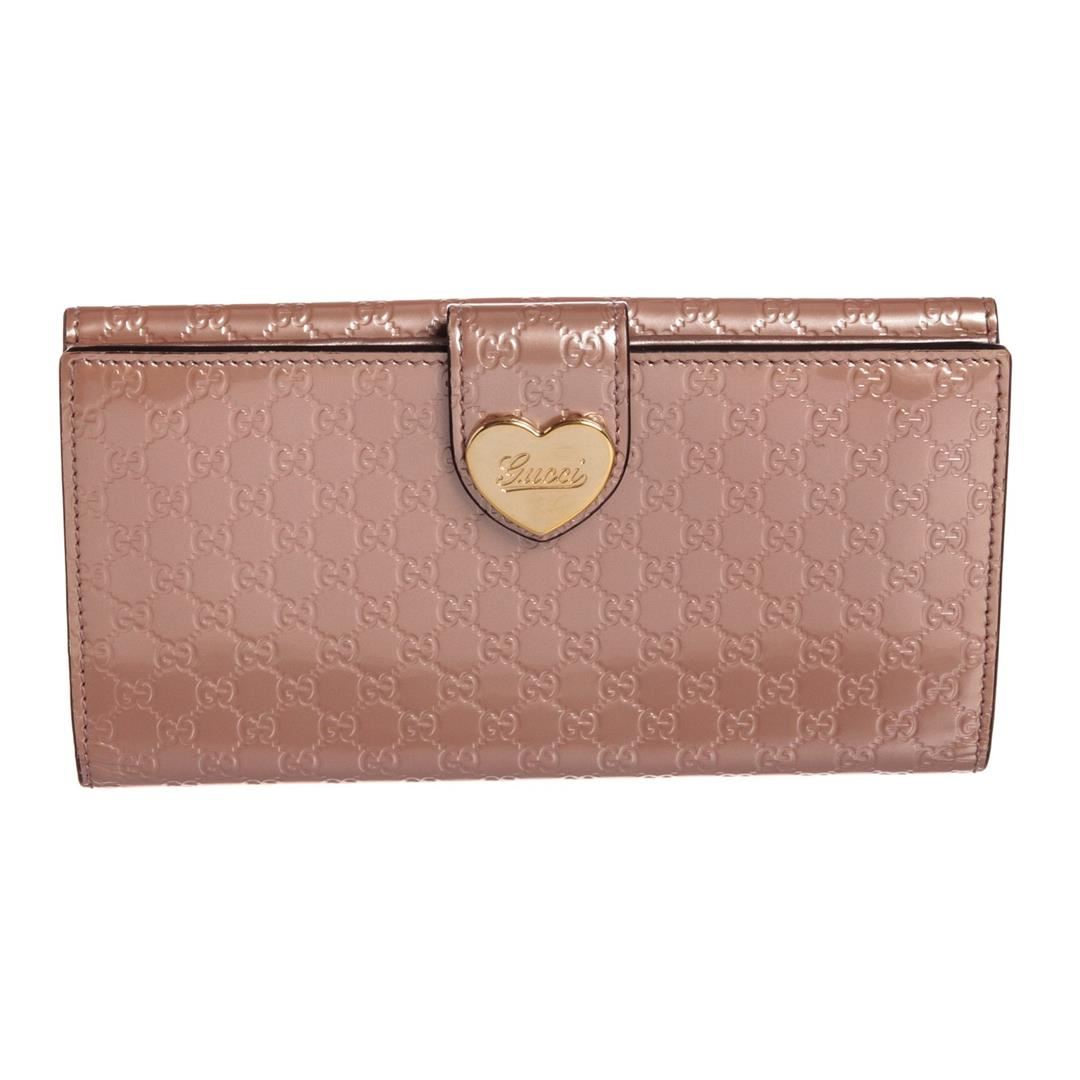 c1f432482aa Image 1   Gucci Pink Guccissima Patent Leather Heart Long Wallet ...