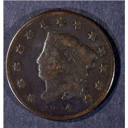 1824/2 LARGE CENT N-1 VG