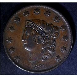 1831 LARGE CENT N-1 XF+ NICE