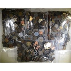 20 POUNDS OF FOREIGN COINS--UNSEARCHED