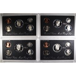 1992, 93, 94 & 95 U.S. SILVER PROOF SETS