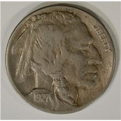 1927-D BUFFALO NICKEL, AU