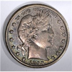 1893-O BARBER HALF DOLLAR, XF KEY COIN
