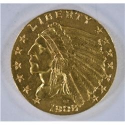 1908 $2.50 GOLD INDIAN HEAD  CH BU