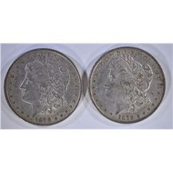 2-1878 7F MORGAN DOLLARS, AU
