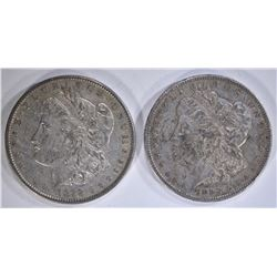 1878 REV 79 AU & 1899-S XF/AU MORGAN DOLLARS