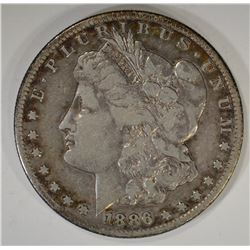 1886-S MORGAN DOLLAR, VF SEMI-KEY