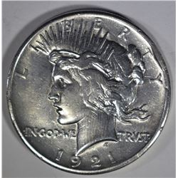1921 PEACE DOLLAR XF RIM BUMP