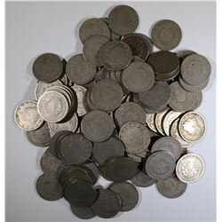 100 MIXED DATE AVE CIRC LIBERTY NICKELS