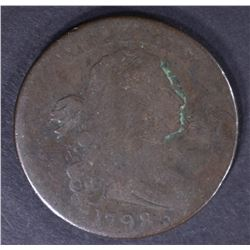 1798 DRAPED BUST LARGE CENT, CHOICE VG 5-175 SCARC