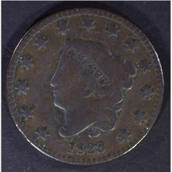 1829 LARGE CENT, VG+