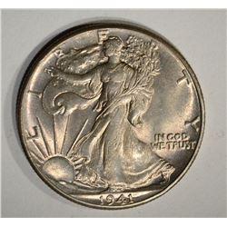 1941 WALKING LIBERTY HALF DOLLAR, GEM BU