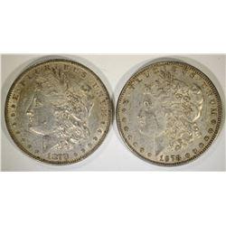 2-1878 7F MORGAN DOLLARS AU NICE