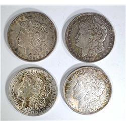 (4) 1921 MORGAN DOLLARS, CIRC OR BETTER