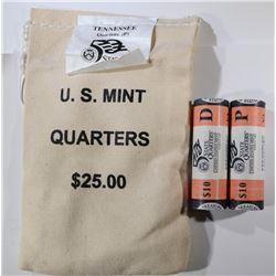 MINT STATE QTR BAG / ROLLS: