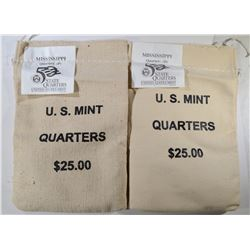 2 - MINT STATE QTR BAGS: