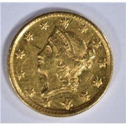 1850 D $1.00 GOLD  AU