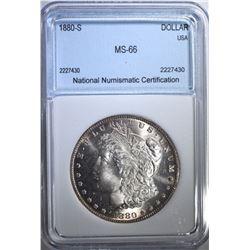 1880-S MORGAN DOLLAR NNC SUPERB GEM